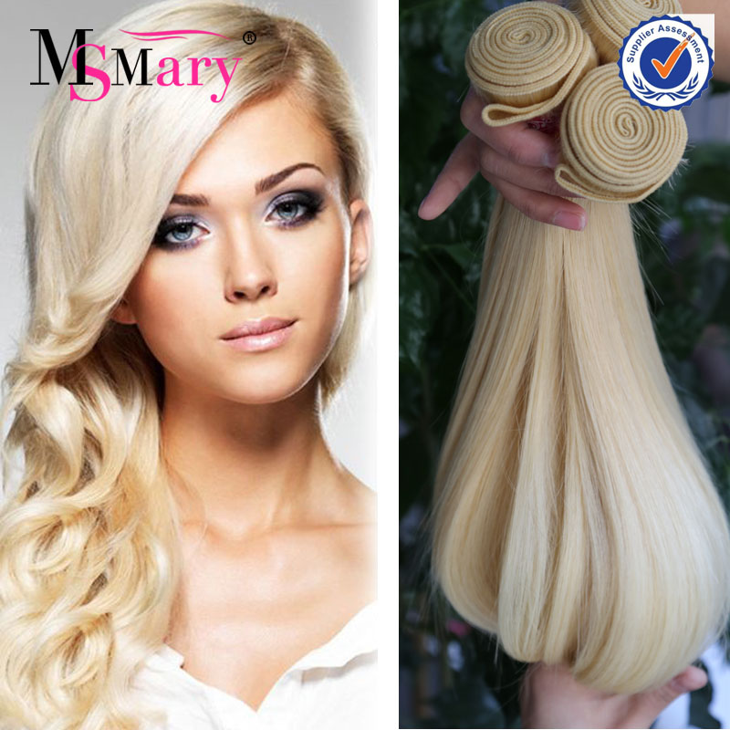 factory wholesale 613 virgin remy european blonde white human hair extension