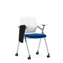 folding task lecture training office chair with table attachment