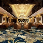 Banquet Hall Flooring Nylon Printed Carpet Luxury Pattern Design For 5 Star Hotel