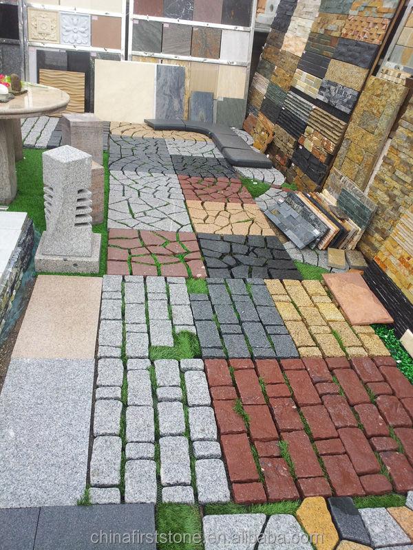 Hzg 73 gris granito adoquines en malla buy adoquines de for Adoquines para jardin precio