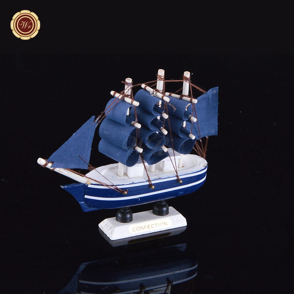Wr Decorative Toy Craft Sailing Ship Model Wooden Sailboats Collectible  Figurines For Home Office Desk Ornaments 14*3*13cm - Buy Wooden Craft,Ship