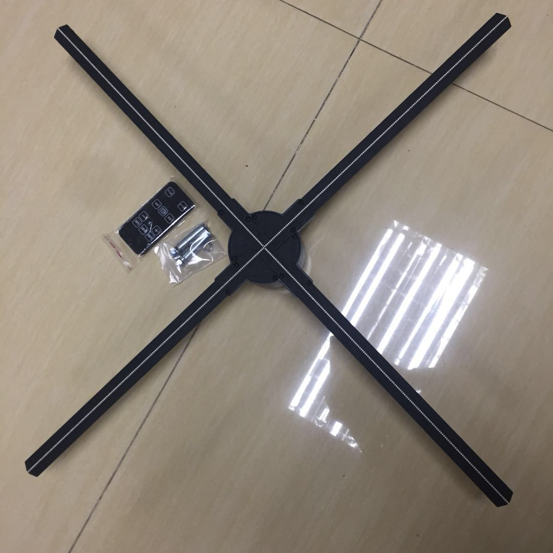 65cm holographic 3d led fan display with 4 blades with App with