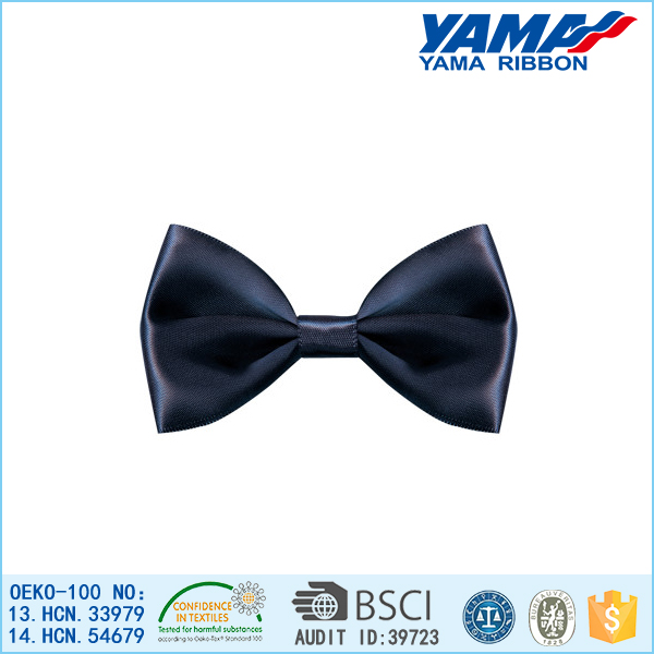 2015 simple design solid color satin ribbon bow tie