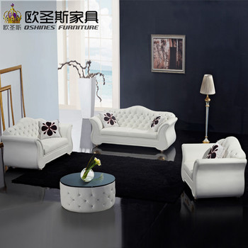 China Factory Sale Euro Hotel Pure White Chesterfield Furniture