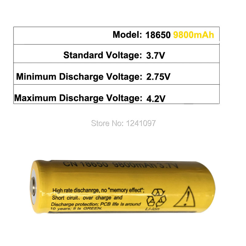 4x18650 Rechargeable Batteries(Not AA battery) 3 7v 9800mAh