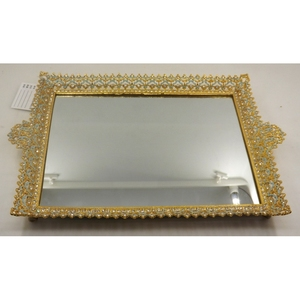 New Design gold metal square Bar serving Tray