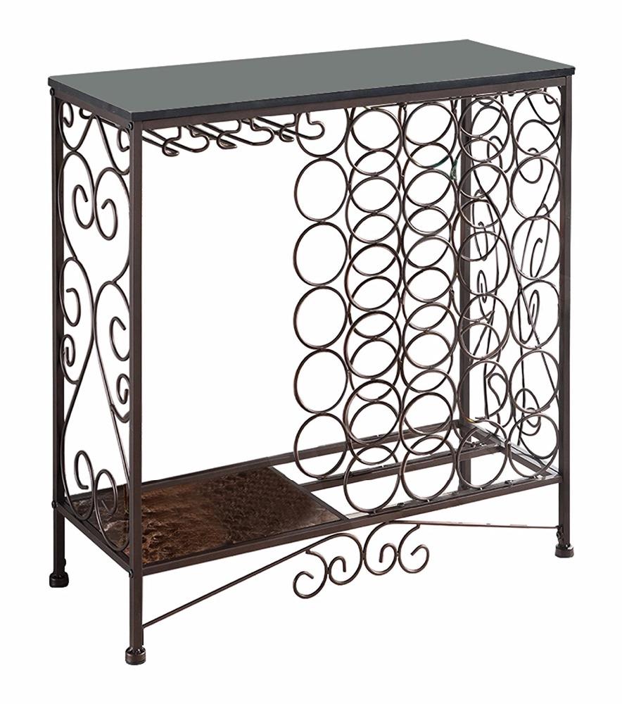 Metal Folding Display Wine Storage Rack Shelf Furniture With