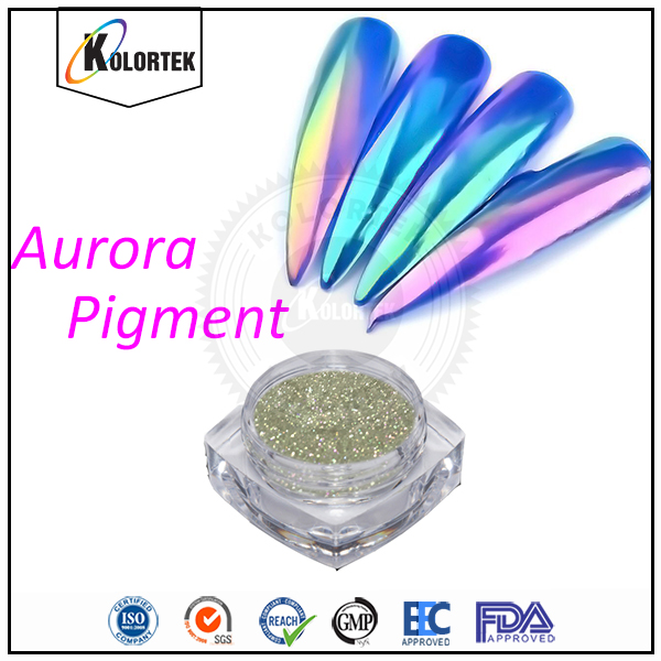 New arrival magic clear rainbow mirror union chrome effect aurora pigment powder for nail polish