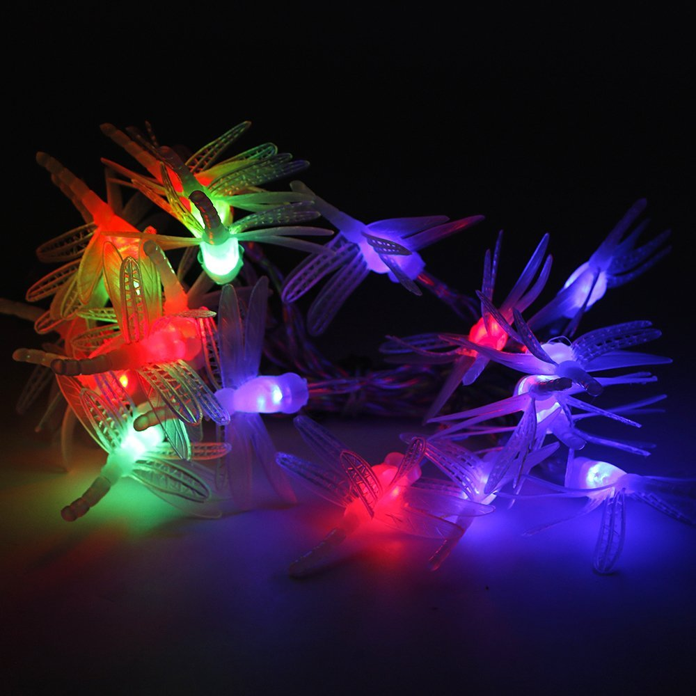 Cheap dragonfly string lights outdoor find dragonfly string lights battery operated string lights rusee 20 led battery powered dragonfly string lights ambiance lighting aloadofball Choice Image