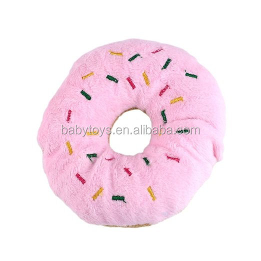 Donuts Shaped Stuffed Toy Plush Donut Dog Toy