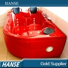 NEW design red tub/european style bathtub/2 person jetted bathtubs