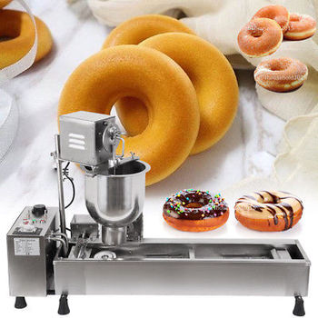 CE approval Automatic Mini Desktop Wide Oil Tank 3 Sets Free Mold donut making machine