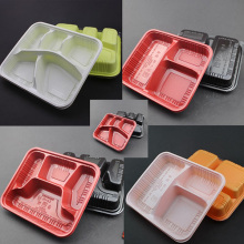 disposable 4 or 6 compartment plastic food tray