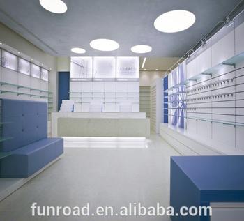 Funroad Pharmacy Display Rack Showroom With Led Lighting Medical
