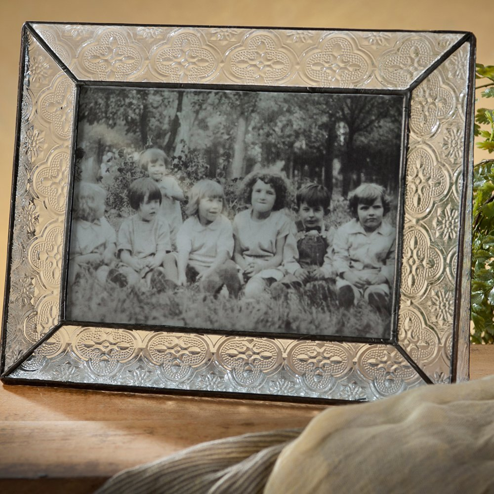 J Devlin Pic 126-57H Picture Frame Tabletop 5x7 Horizontal Photo Frame Vintage Glass Wedding Anniversary Family