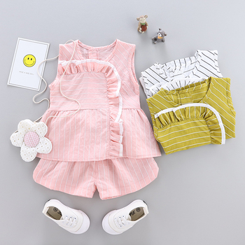 Hot sale high quality beautiful girls summer children clothes online with different colors