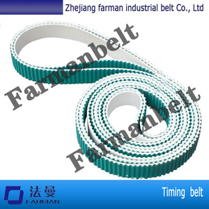 Chinese Supplier S5M Endless pu timing belt coated with green rubber