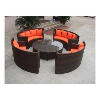 Rattan Yin Yang Furniture Of Outdoor New Design Sofa Set