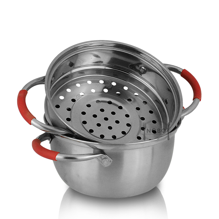 High Quality Induction Gas Steamer Cooking Pot Double Layer 304 Stainless Steel Japanese Food Steamer with Lids