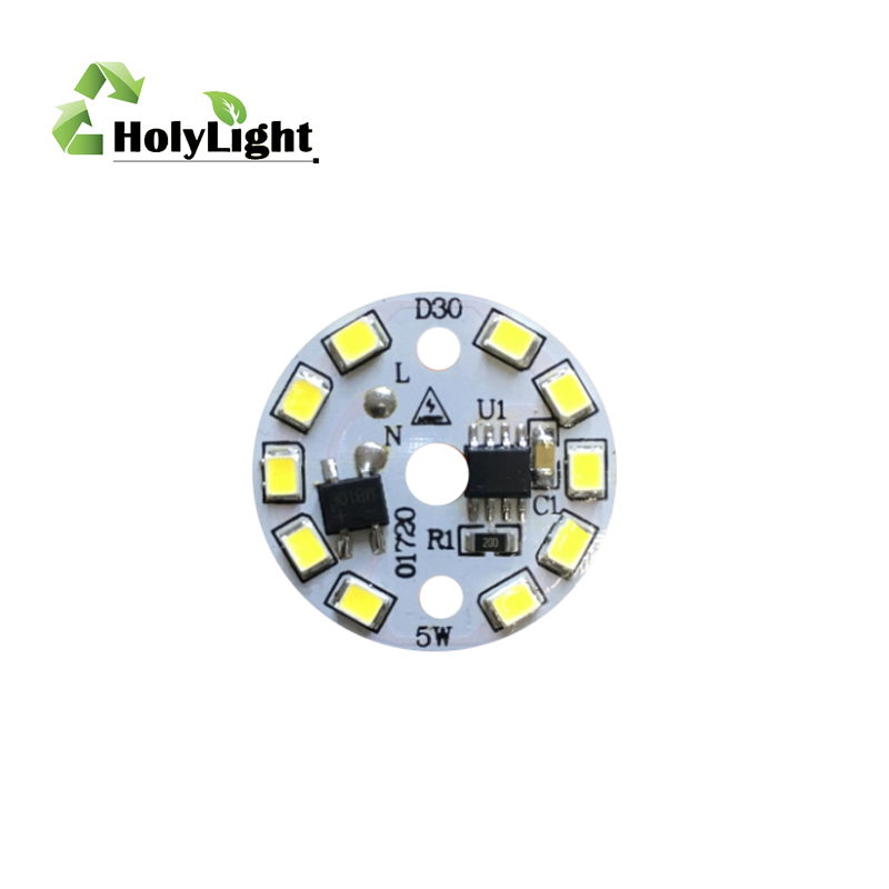 Sürücüsüz Yuvarlak 2835 ampul downlight modülü led 7/9/12W PCBA sürücü olmadan