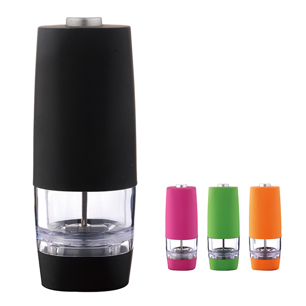 Multi-color and optional automatic electric with Battery salt and pepper grinder