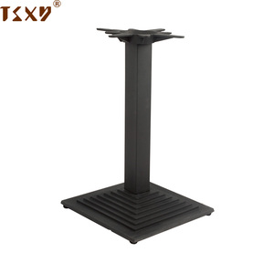 Metal coffee cast iron table base for restaurant