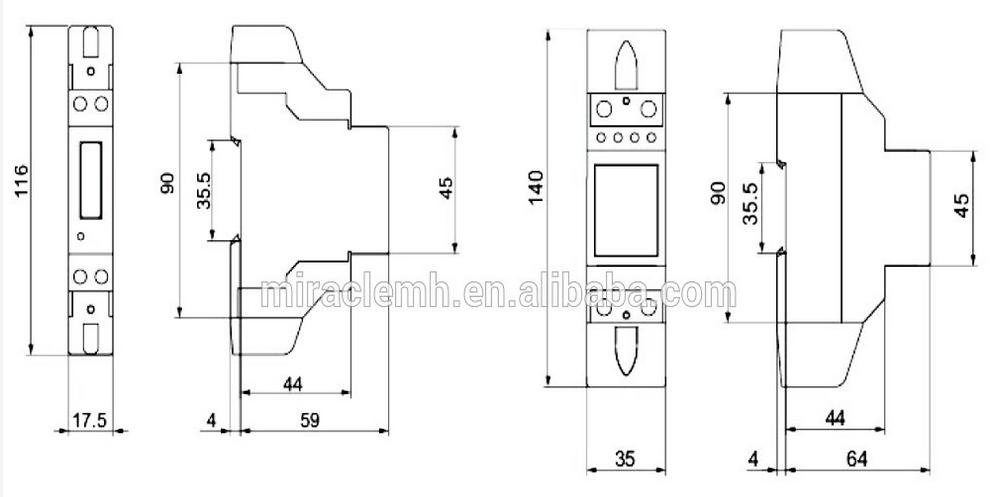 Small Digital Watt Meter Power Meter Digital Ethernet Kwh Meter ...