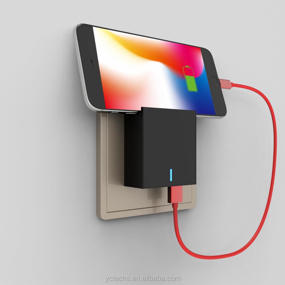 טעינה מהירה עבור נייד טלפון ו-macbook USB מטען קיר, USB הכפול 5V 3A קיר מטען נייד אביזרי CE ROHS אישור