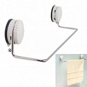 UR Bathroom Stainless Steel Towel Shelf Wall Mount Bath Rack with Suction Cup
