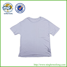 Custom cheap short sleeve 100% Cotton Blank round neck T-shirt