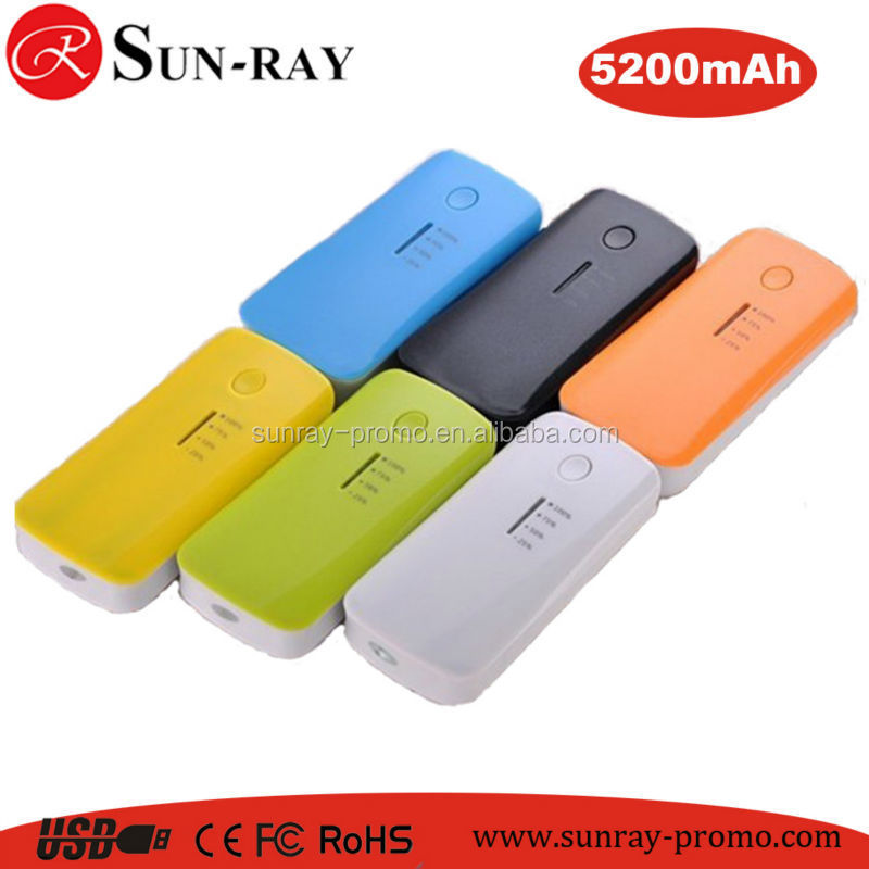 2015 new promo product high capacity 5200mah powerbank for mobile phone
