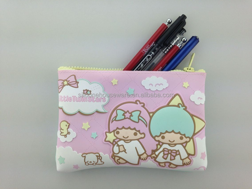 Original Sanrio Hello Kitty Series Silicone Pouch with High Quality Zipper Puller