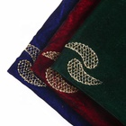 Green foil velvet abaya fabric material price per meter for bangladesh