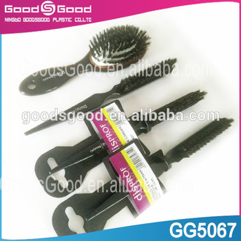 Mini plastic teasing brush boar hair brush