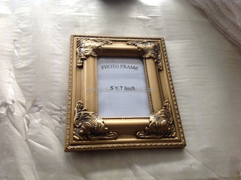 baroque decorative modern wood frame 8x10 matted black picture frame