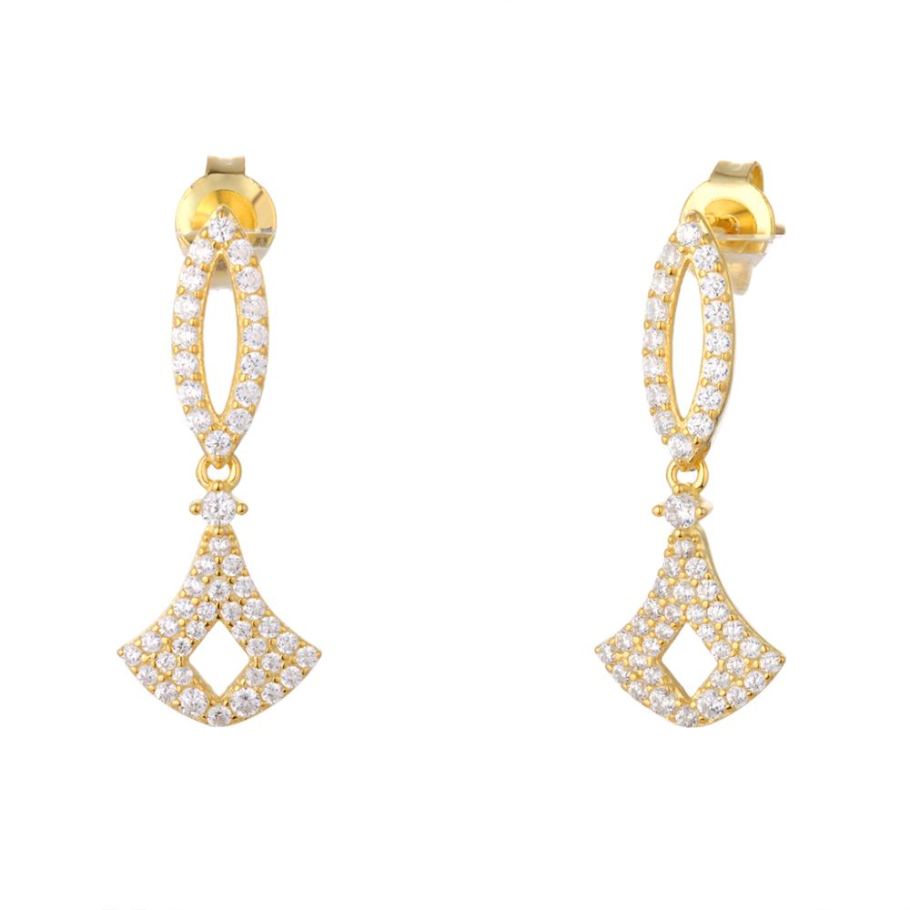 Light Weight Gold Earrings Tops Designs For Women With Best Price ...