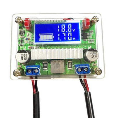 DC-DC DC 3A adjustable step-up regulator NC power supply <strong>module</strong> voltage and current meter dual display with LCD screen