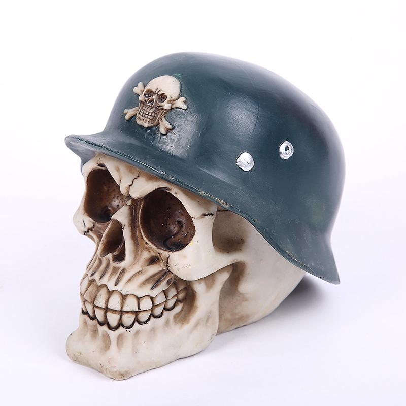Metallischer menschlicher Piraten-Schädel-Geldkasten-Einsparungsbank
