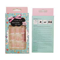 B04 Natural white French manicure false nail tips