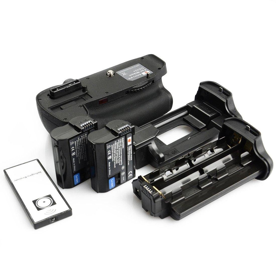 DSTE Pro IR Remote MB-D14 Vertical Battery Grip + 2x EN-EL15 for Nikon D610 D600 SLR Digital Camera