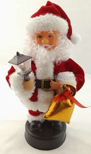 European standard Christmas decoration 25 cm christmas dancing and singing santa claus