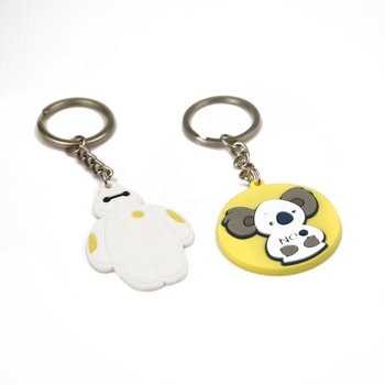 Lovely custom cheap 2d/3d soft pvc rubber keychain for girls gift