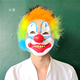 top sale funny rubber clown props decorative masks for party