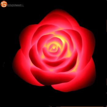 Battery Operated Paraffin Wax Carved Led Birthday Flower Candles Rose Shape