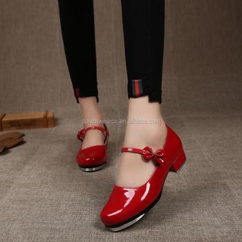 e9c5cbe985 Sapatas de torneira profissional por atacado para meninas dançando Sapatas  de torneira vermelha baratas