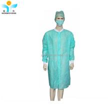 Hospital use disposable non woven lab coat with ISO FDA certification