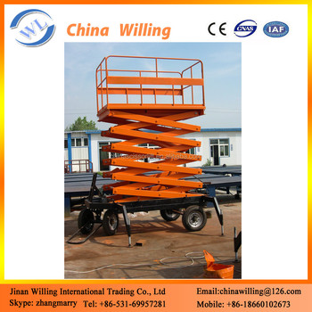 4m Small Scissor Lift Hydraulic Automatic Electric Scissor Lift Scaffolding  - Buy Scaffolding For Sale,Portable Scaffolding,Mobile Lift Product on