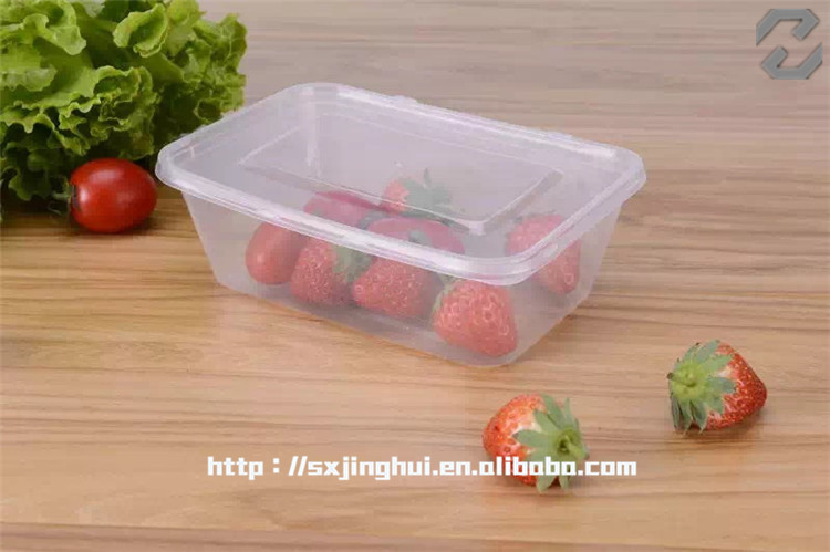 Plastic Rectangle logo printing wholesale clear plastic container with lid