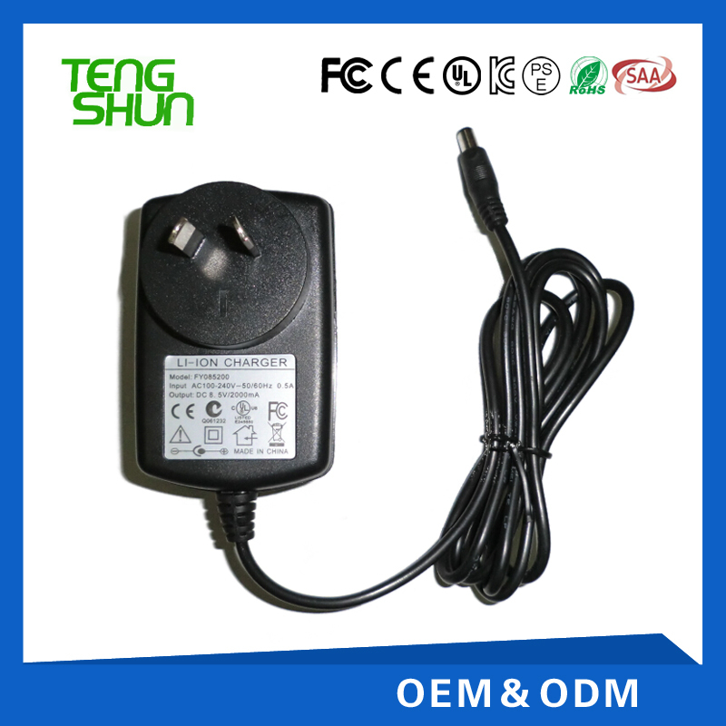 9v 9.6v 2a adapter charger ce rohs ul certificates