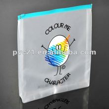 2012 New Cartoon Printed Ziplocked Frosty PVC Bag